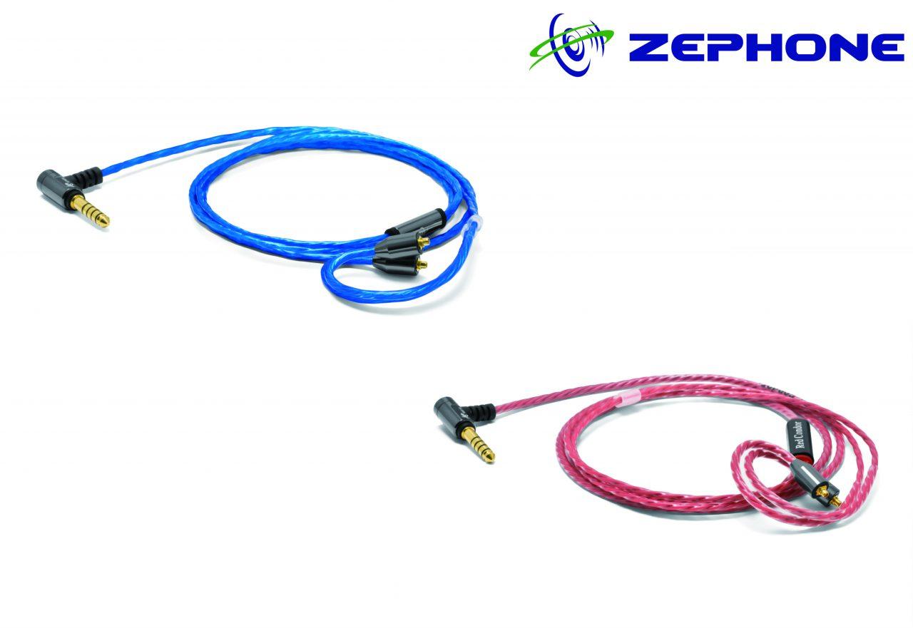 【小柳出電気商会ブース】ZEPHONE EL-21 Blue Seagull/EL-24 Red condor 4.4mm 5極バランスケーブルを参考出品&先行販売
